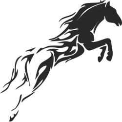 Autoaufkleber: Aufkleber Pferd 44 Aufkleber Pferd 44