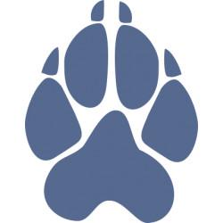 Autoaufkleber: Hunde Pfoten Sticker Aufkleber (6cm hoch) Hundepfoten Aufkleber mit Herz