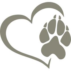 Autoaufkleber: Hunde Pfoten Aufkleber und Sticker auf Kontur geschnitten Hunde Pfoten Aufkleber und Sticker auf Kontur geschnitten