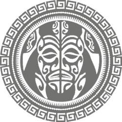 Autoaufkleber: rundes Tattoo der Maori rundes Tattoo der Maori