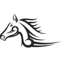 Autoaufkleber: Aufkleber PFERDEKOPF 05 Pferdekopf Aufkleber, Folie, Autofolie, selber gestalten, Aufkleber Motorhaube