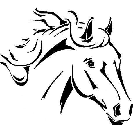 Aufkleber: Aufkleber Pferdekopf 06