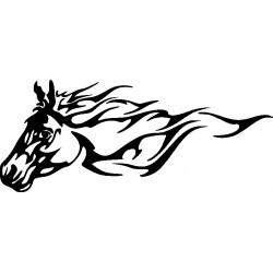 Autoaufkleber: Pferdekopf 13 aufkleber für Auto oder zum selber gestalten