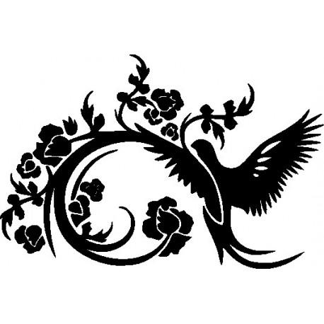 Aufkleber: Wandtattoo - Vogel