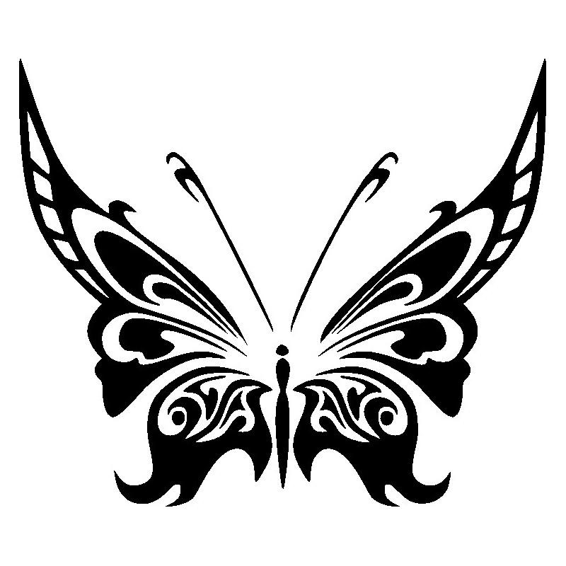 Schmetterling Hibiskus Autoaufkleber Aufkleber Ranke