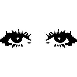 Autoaufkleber: Eye - Sticker 2 Aufkleber Blume für Auto