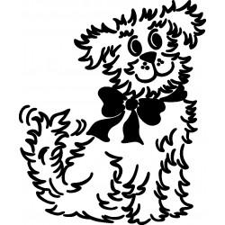 aufkleber autoaufkleber fl�gel, wolf, hund, babyaufkleber HUNDEKINDER 02