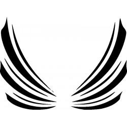 Autoaufkleber: Flügel 1 Cardesign, Autoaufkleber