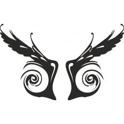 Autoaufkleber: Flügelaufkleber 3 Cardesign, Autoaufkleber