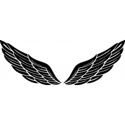Autoaufkleber: heckscheibenaufkleber-Flügel 15 Cardesign, Autoaufkleber