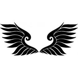 Autoaufkleber: Flügel 17 Cardesign, Autoaufkleber