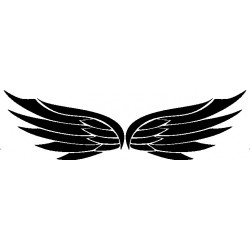 Autoaufkleber: Flügel 18 Cardesign, Autoaufkleber