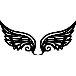 aufkleber autoaufkleber fl�gel, wolf, hund, babyaufkleber Wings Wandtattoo 2