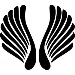 Autoaufkleber: Wings heckscheibenaufkleber 11 Cardesign, Autoaufkleber
