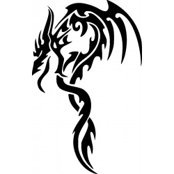Drachen Wandtattoo 3