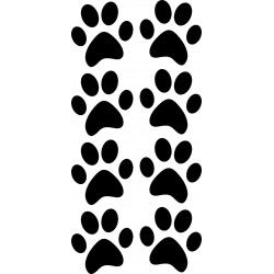 aufkleber autoaufkleber fl�gel, wolf, hund, babyaufkleber Katzenpfoten Aufkleber