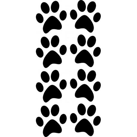Aufkleber: Katzenpfoten Aufkleber - 4 Paar