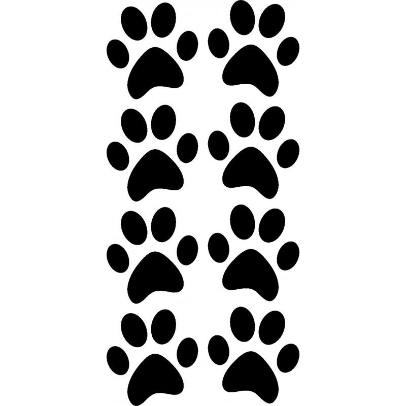 Katzenpfoten Aufkleber 4 Paar