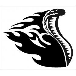Autoaufkleber: SCHLANGE FLAMMEN Cardesign, Autoaufkleber
