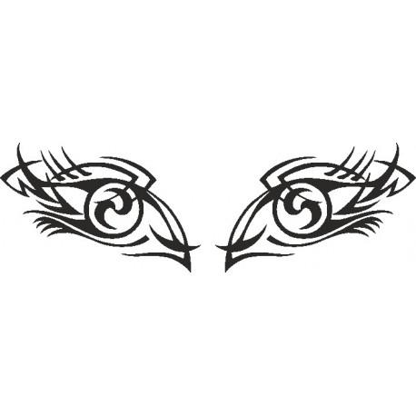 Aufkleber für die Heckscheibe Auge