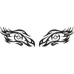 Autoaufkleber: Eye - Sticker 211 Aufkleber für die Heckscheibe Auge