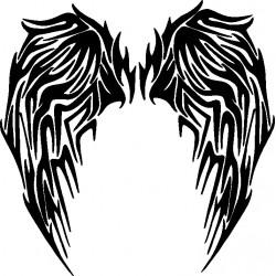 aufkleber autoaufkleber fl�gel, wolf, hund, babyaufkleber Flügel 8 Tattoo