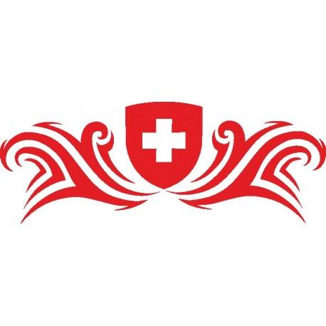 Heckscheiben Aufkleber Schweiz 3