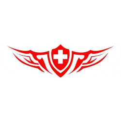 Autoaufkleber: Heckscheiben Tattoo Schweiz Heckscheiben Aufkleber 28