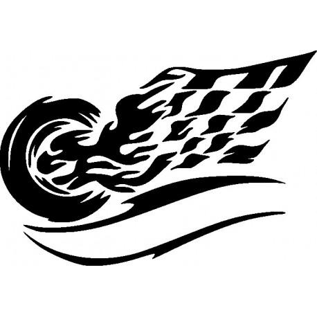 Aufkleber: Autorennen 1