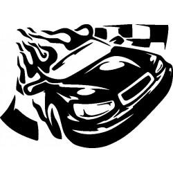 Autorennen Aufkleber 3