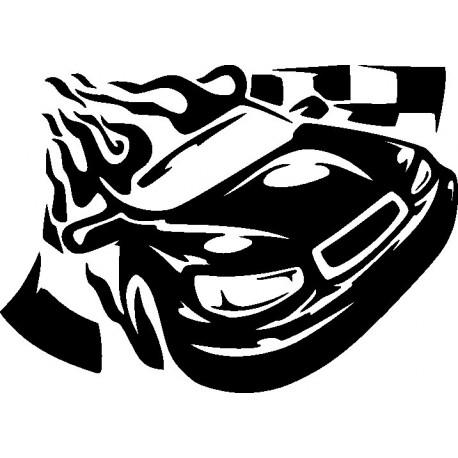Aufkleber: Autorennen Aufkleber 3