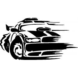 Autorennen Aufkleber 4