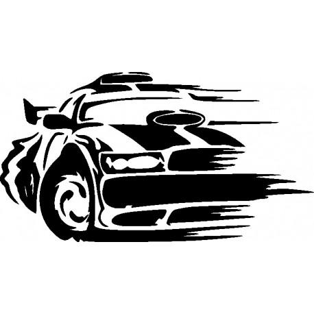 Aufkleber: Autorennen Aufkleber 4