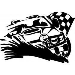 Autoaufkleber Rennen 7