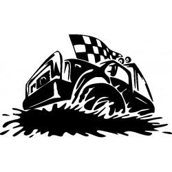 Autorennen Aufkleber 8