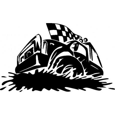 Aufkleber: Autorennen Aufkleber 8