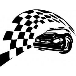 Autorennen Aufkleber 12