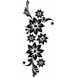 Autoaufkleber: Wall Sticker Flower 4 Blume mit Schmetterling