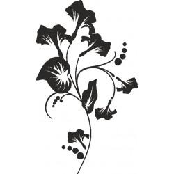 Autoaufkleber: Wandblume  1 Blumen Set zum selber gestalten