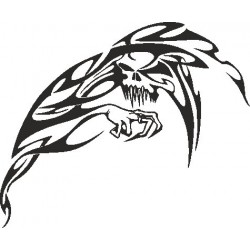 Autoaufkleber: Wandblumen Set to make your own Flamme Skull 1 Aufkleber