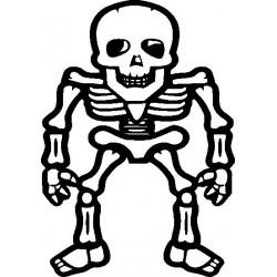 Skelett Gothik 1 Aufkleber