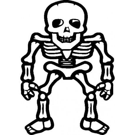 Aufkleber: Skelett Gothik 1 Aufkleber