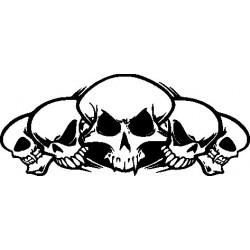 Autoaufkleber: Skelett 5 Gothik Aufkleber Flügel 9 Aufkleber