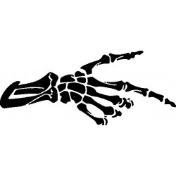 Skeletthand 1 Gothik Aufkleber