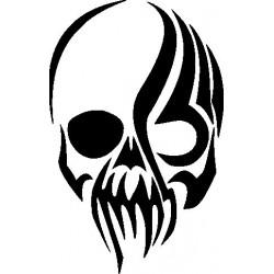Autoaufkleber: Skull 8 Gothik Aufkleber Flügel 9 Aufkleber
