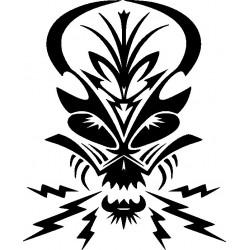Autoaufkleber: Skull 9 Gothik Aufkleber Flügel 9 Aufkleber