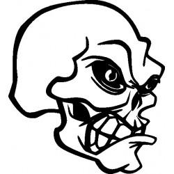 Autoaufkleber: Skelett 3 Gothik Aufkleber Skelett 3 Gothik Aufkleber