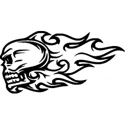 Gothik Skull 31 Aufkleber