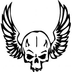 Autoaufkleber: Gothik Skull 100 Aufkleber Flügel 9 Aufkleber