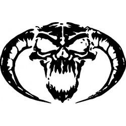 Gothik Skull Horn Aufkleber